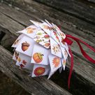 Fall Paper Ornament. Fall Decoration, Christmas, Gift, Autumn, Anniversary, Thanksgiving. Unique Gift