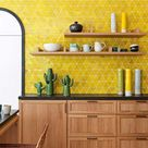 Cozinha Amarela: 60 Ideias De Decoração, Fotos E Projetos,  #Amarela #Cozinha #Decoração #Fot...