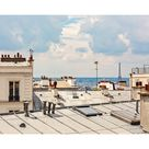Eiffel Tower View from Montmartre Paris Rooftops   Etsy
