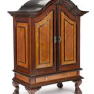 Dutch-Colonial Satin and Rosewood, Ebony and Teak Collectors' Table-Cabinet