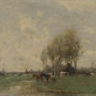 Willem Maris, 1880 - Meadow with cows - fine art print - Acrylic glass print (with real glass coating) / 80x60cm - 31x24