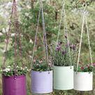 DIY Upcycling Idee Blumenampel aus Konservendose   DekoideenReich