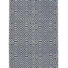 Ella - Diamond pattern indoor outdoor rug - Indigo / Small