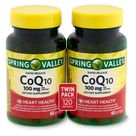Spring Valley Rapid-Release CoQ10 Dietary Supplement Twin Pack, 100 mg, 60 count, 2 pack, White