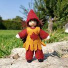 Autumn Boy Fairy doll -  Waldorf Boy Doll -  Elf Doll - Handmade - Bendy Doll - Nature Table