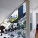 Dachterrasse gestalten   Ideen für Dachloggia im Schrägdach
