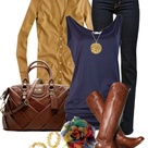Navy And Brown