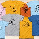 Winnie The Pooh, Tigger, Piglet, Eeyore, Lympy, Wol, Rabbit, Roo Shirts, Disney Shirt, Winnie the Po