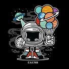 Space Planet Party Cartoon iPad Case & Skin by ThatMerchStore