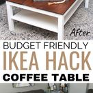 DIY Farmhouse Coffee Table: Ikea Hack Makeover | Feeling Nifty