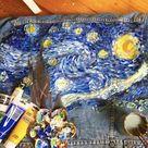 Hand Painted Van Gogh Starry Night Denim Jacket Painted to   Etsy