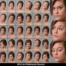 Elena 30 Facial Expressions Stock Comm Use OK by ArtReferenceSource on DeviantArt