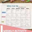 Weekly Activity Plan for 2-3 Year Olds