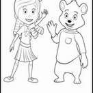 Coloring Pages Goldie and Bear L0