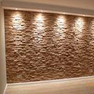 Wandverkleidung Wandpaneele Typ Tirsen Spaltholz 3D Eiche gespaltet