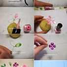 Spring wire necklace with nail polish by seehowwemakeit.blogspot.it & semeistvoadams.blogspot.com – 2019 - Jewelry Diy