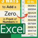 3 Ways to Add a Zero in Front of Numbers Excel + video tutorial