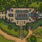 Viking Longhouse Battle Map by Spellarena