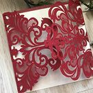 Pearl red Laser Cut Wedding Invitations Cards,Invitation Cards,Sweet Sixteen Invitation Cards,Party Invitations Cards,Modern Wedding Invitations Cards,Laser Cut Wedding Cards,50pcs