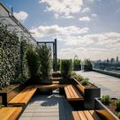 Meeting room areas on the Post Building roof terrace London.