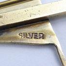 Silver Gilt & Enamel Bar Brooch - with enamelled flag - Yacht club ?