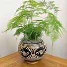 Black and White Calabash Plant Pot