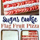 Sugar Cookie Flag Fruit Pizza