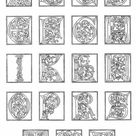 Kleurplaat 01a. alfabet einde 15e eeuw. Gratis kleurplaten om te printen