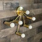 Libra Zodiac 6 Light Modern Industrial Vanity Mid Century Bathroom Light