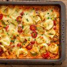 TORTELLINI AUFLAUF mit Tomaten & Mozzarella (vegetarisches Rezept)