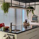 Stalen rek met verlichting voor keuken