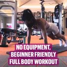 No Equipment - full body workout m. Exercises for legs, core, arms, shoulders