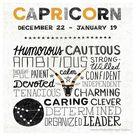 Capricorn Zodiac Absorbent Beverage Coasters, Set of 12