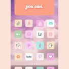 130 Pastel aesthetic home screen app icons