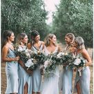 light blue bridesmaid dresses short