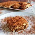 Mattonella di biscotti con crema al caffè e rum