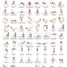 Set von 2 Poster - A2 druckbare Yoga Poster und A2 Surya Namaskar - Sonne Gruß pädagogische Plakat - Sanskrit mit englischer Übersetzung