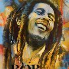 Bob Marley Art Poster Painting