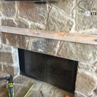 How to Build and Hang a Mantel on a Stone Fireplace