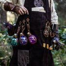 Leather Apron, larp Alchemy steampunk crazy scientist mechanics, engineers. With accesories and pockets perfect for Barber