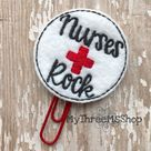 Nurses Rock Feltie Clip Nurse Planner Clip, Gift For Nurses Stocking Stuffer, Nurse Paperclip Bookma