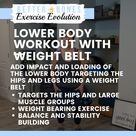 Lower Body Workout with Weight Belt