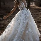 A Line Ivory V Neck Country Wedding Dresses with Appliques, Beach Wedding Gowns SJS15548   Default Title