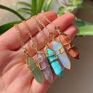 Gemstone Crystal Necklace