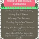 Weekly Cleaning Schedules