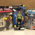 Vintage 1990's Star Trek Figure Lot Next Generation Space Talk Starfleet