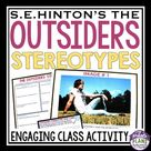 OUTSIDERS ACTIVITY STEREOTYPES