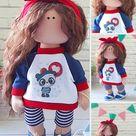Tilda Doll Handmade Interior Art Doll Custom Made Doll by | Etsy