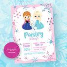 Winter Wonderland Invitation. Princess Invitation. Frozen Invitation. Frozen Party. Frozen Birthday. Frozen Printable.
