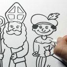 Sinterklaas en Piet leren tekenen in stappen! (NIEUW! Deel 2)